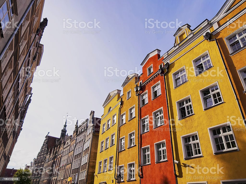 Colorful houses of Gdansk, Poland stock photo