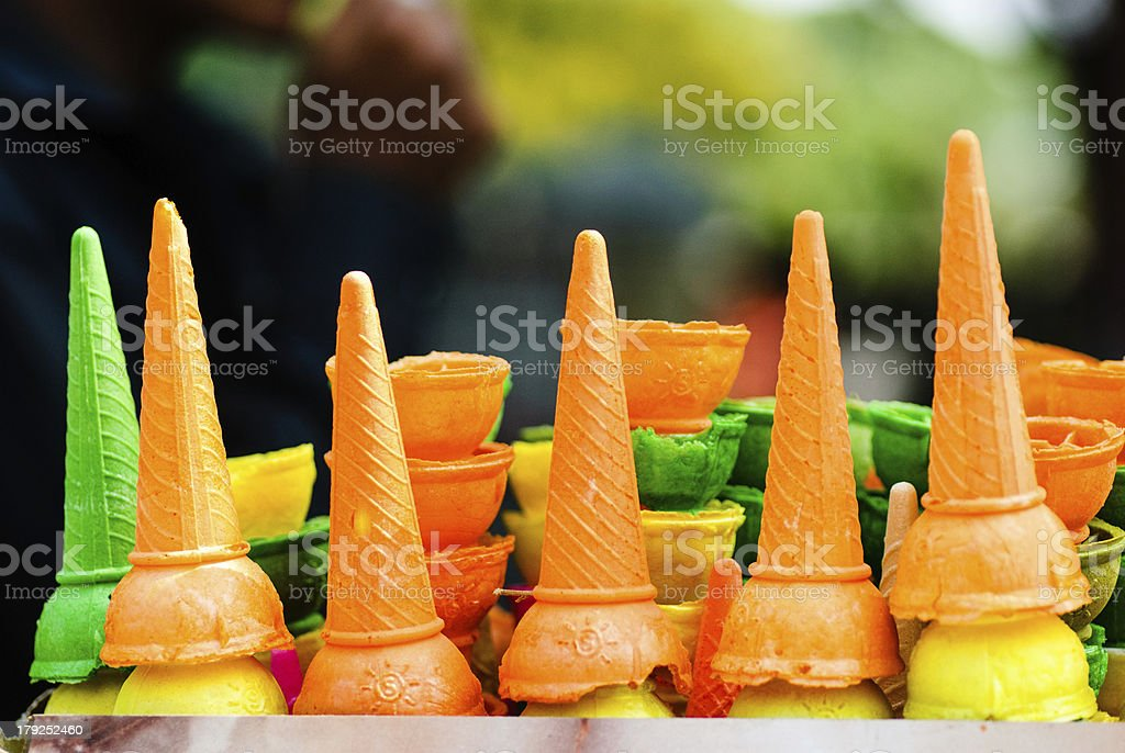 Colorful Icecreams royalty-free stock photo