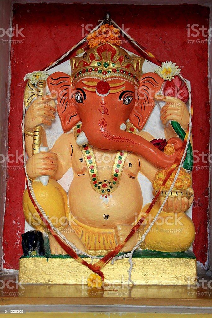 Colorful Idol of Painted Ganesha stock photo