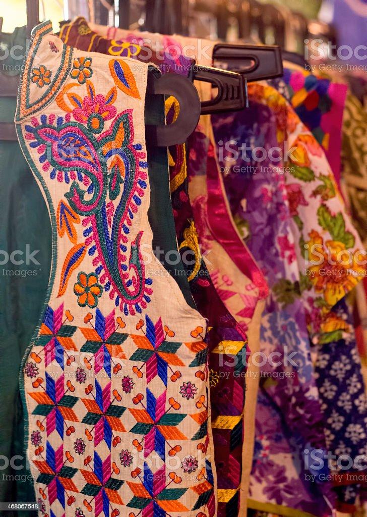 Colorful indian Kurtis (coats) stock photo