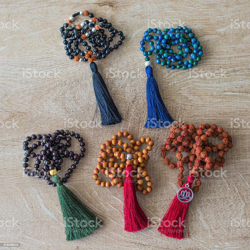 Colorful indian malas stock photo