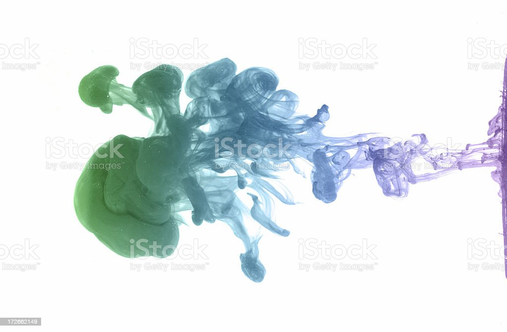 Colorful Ink Drop royalty-free stock photo