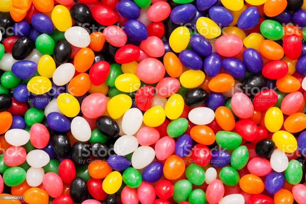 Colorful Jelly Bean Background stock photo