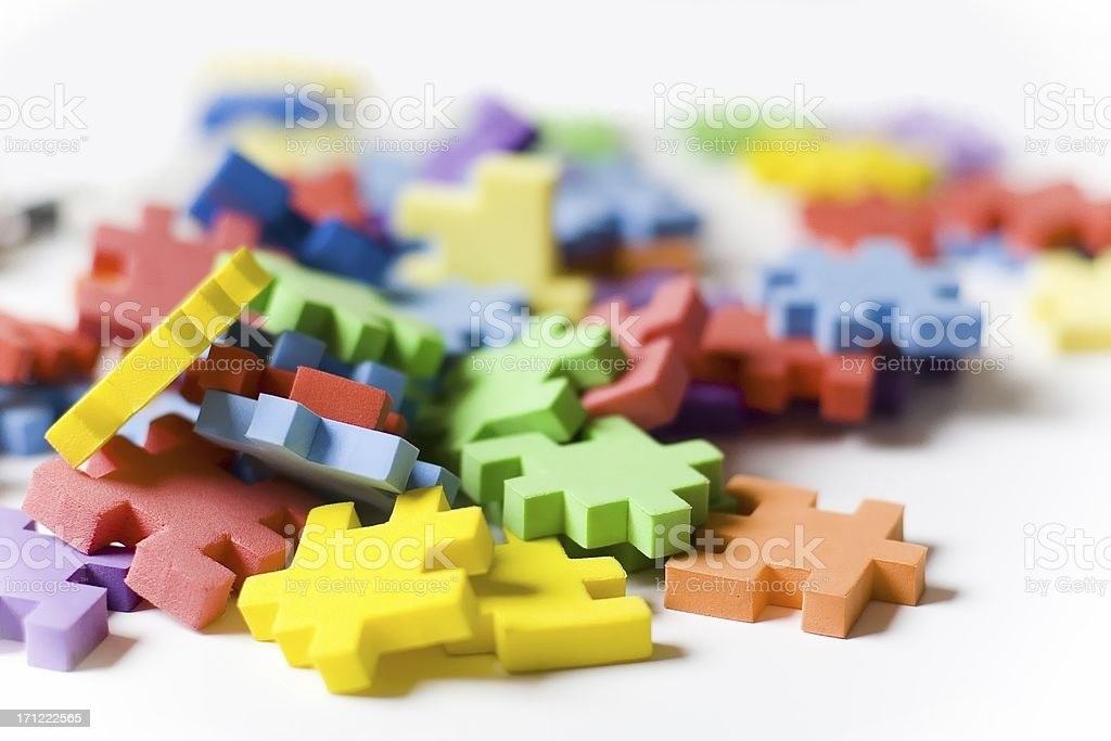 colorful jigsaw (puzzle) royalty-free stock photo