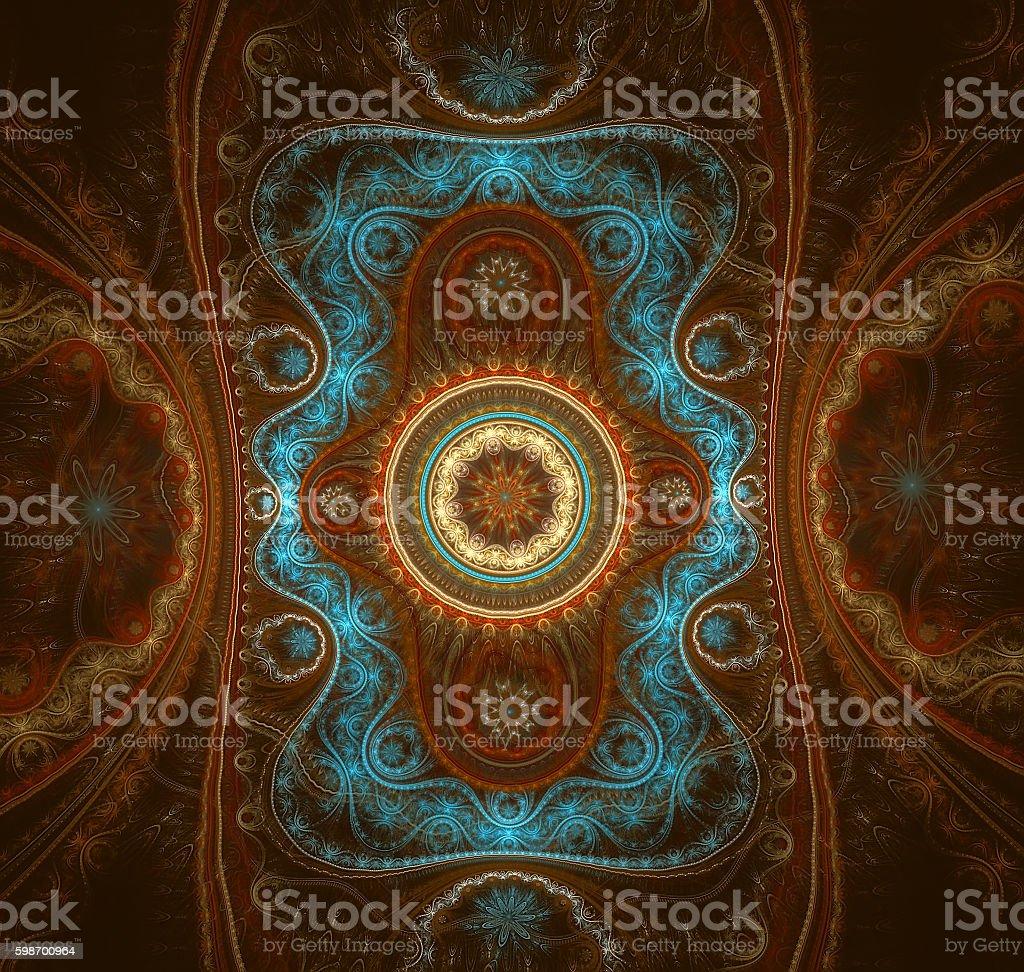 Colorful Julian fractal. Fancy cloth. stock photo