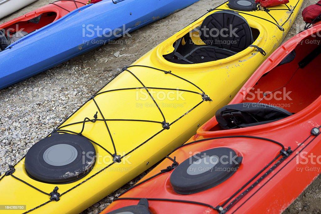 Colorful Kayaks royalty-free stock photo