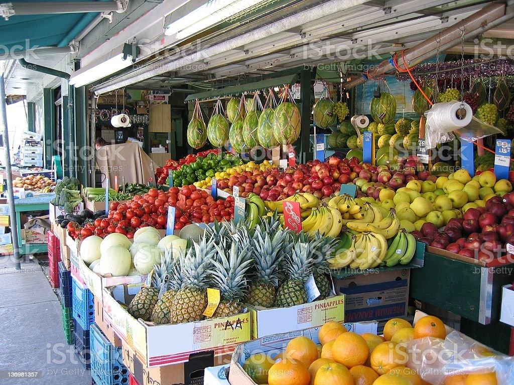 Colorful Kensington Market stock photo