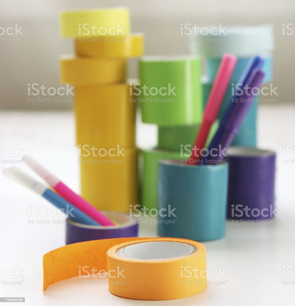 Colorful Kids Craft Tape royalty-free stock photo