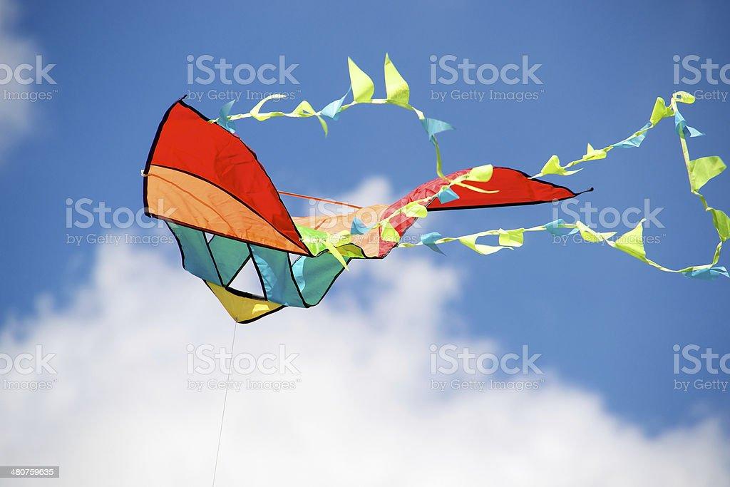 Colorful kite stock photo