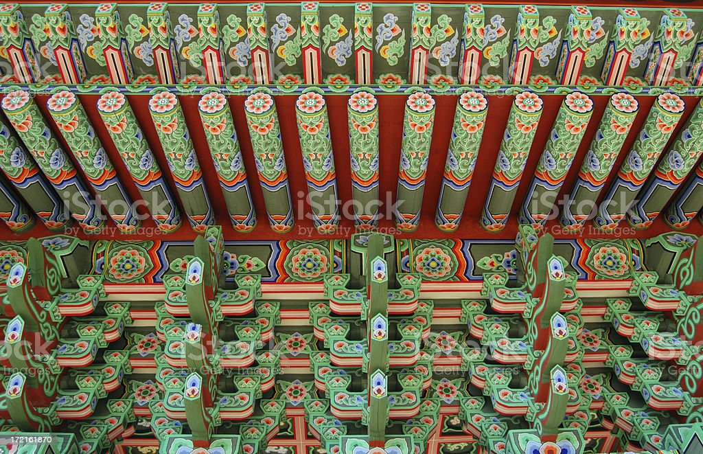 colorful Korean facade royalty-free stock photo