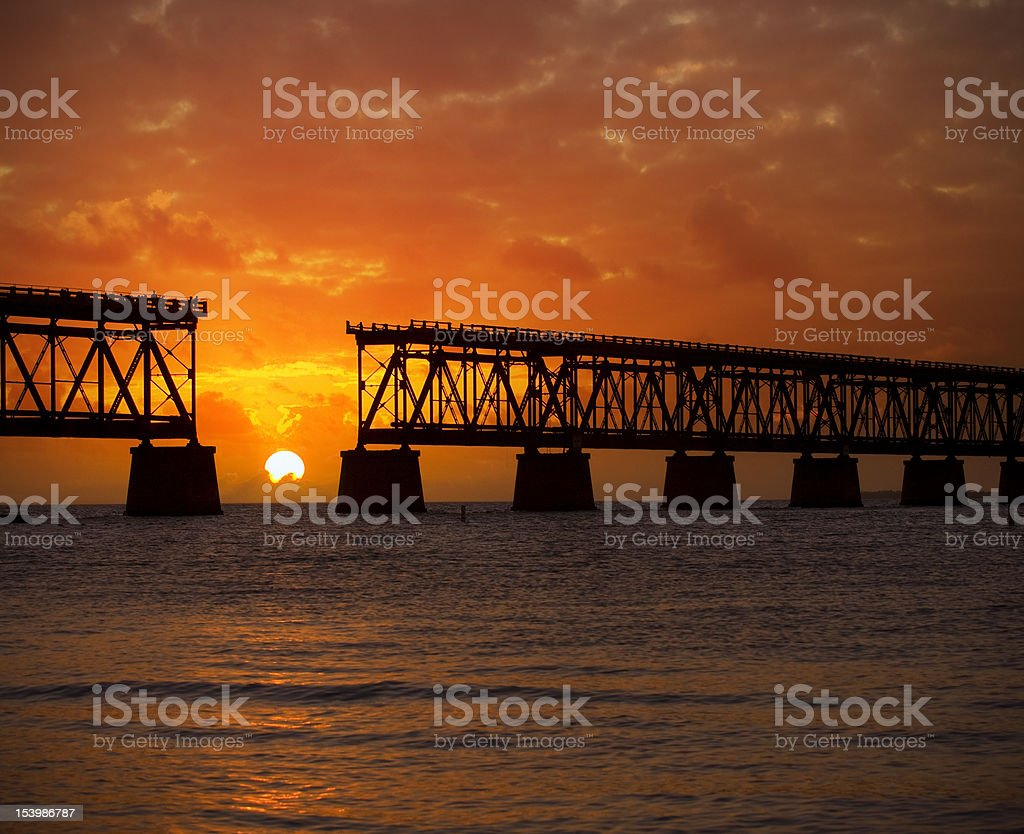 Colorful landscape of a beautiful  tropical sunset or sunrise stock photo