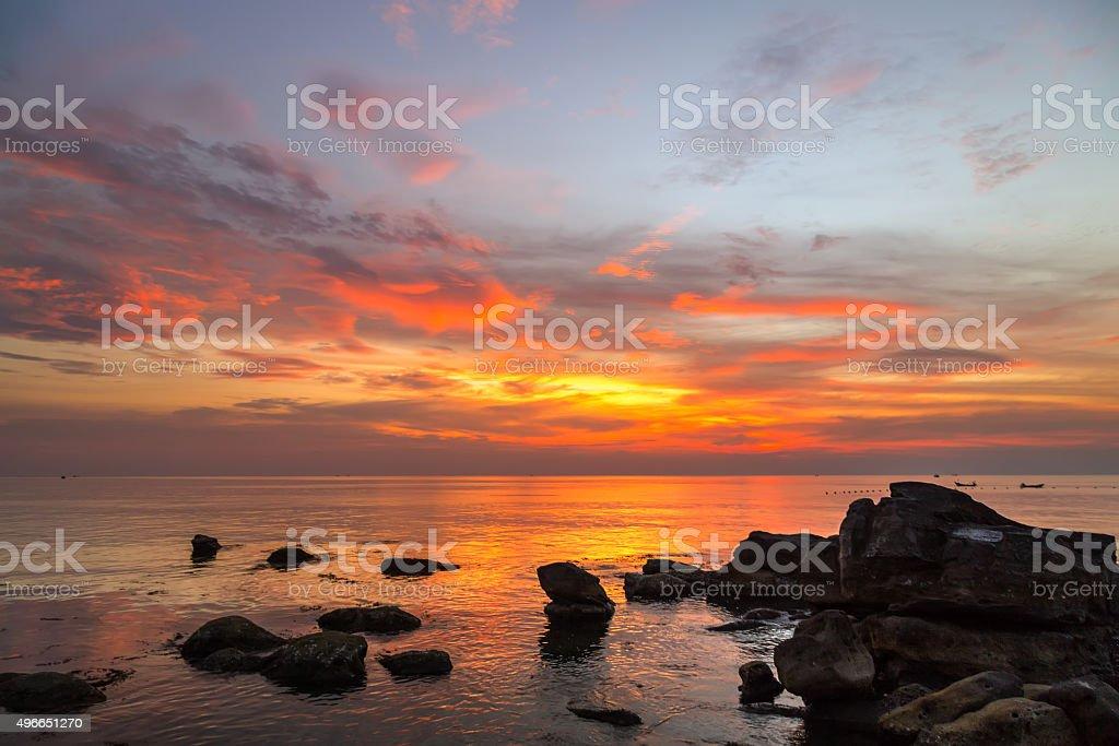 Colorful landscape scenery stock photo