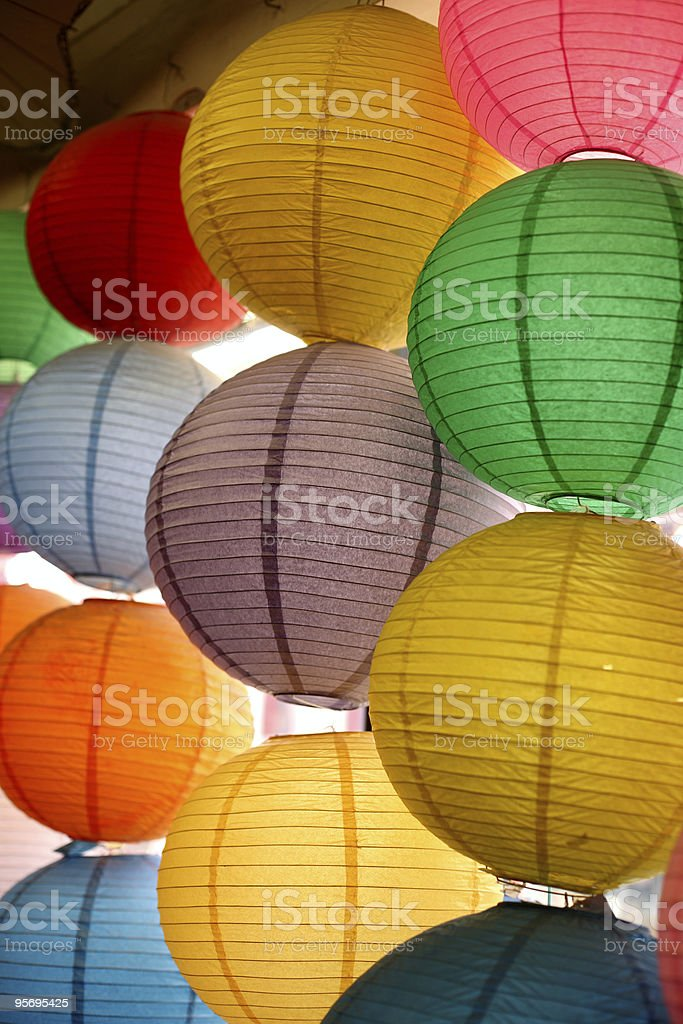 Colorful Lantern royalty-free stock photo