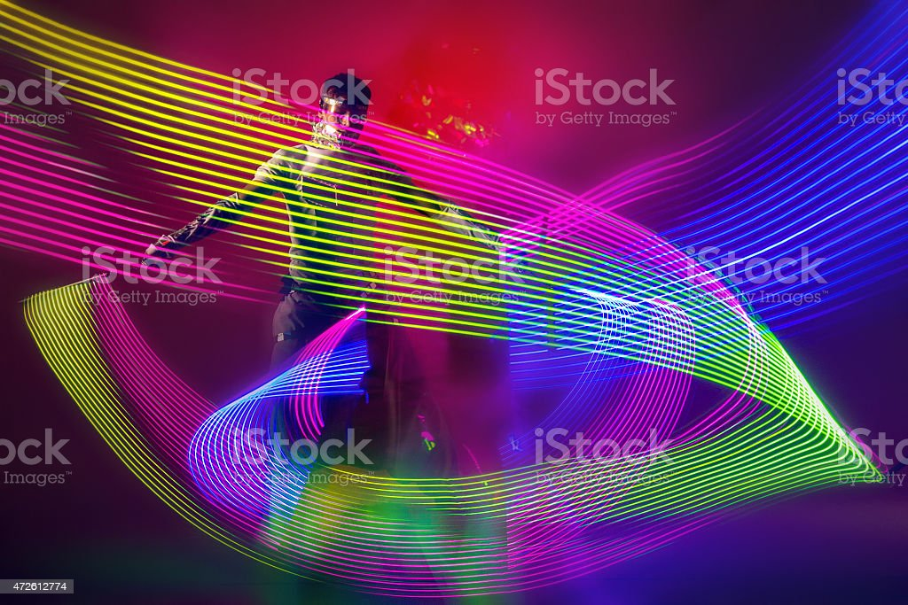 Colorful LED Light Entertainment stock photo