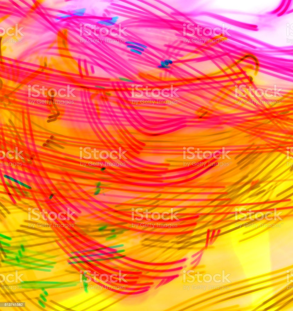 Colorful LED Light Lines stock photo