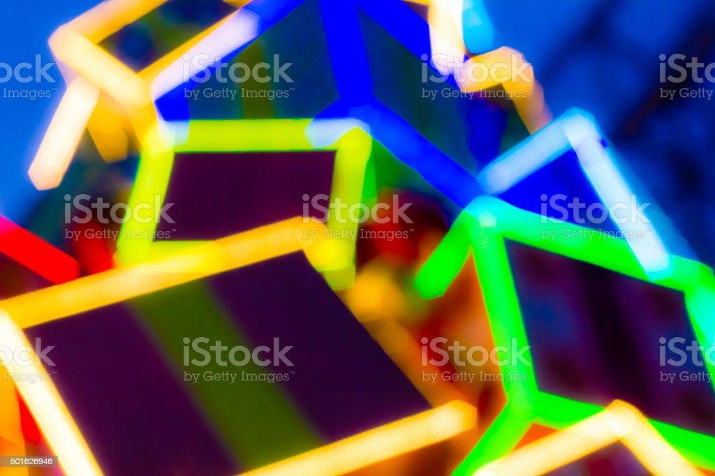 Colorful LED Light stock photo