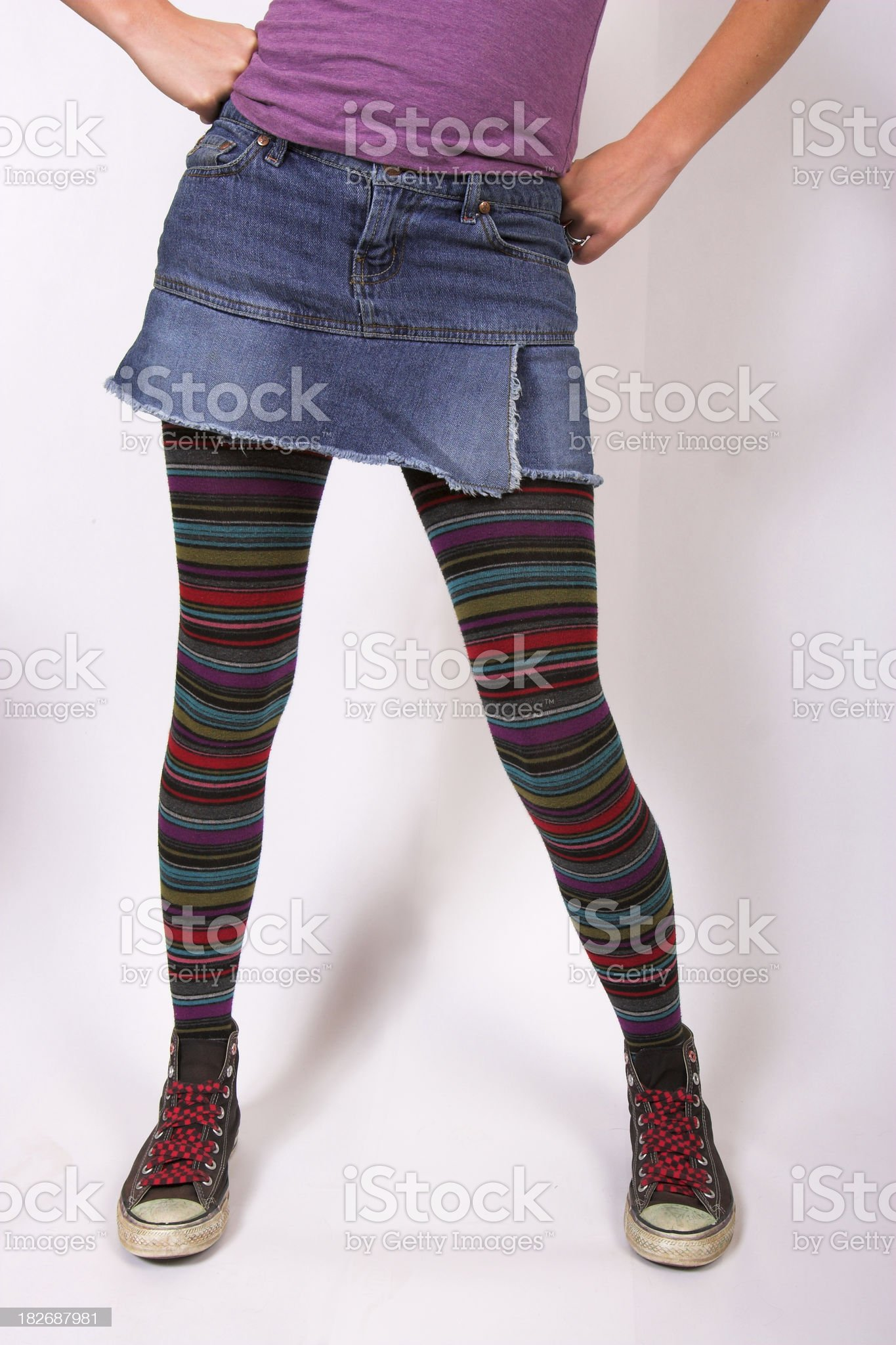 Colorful Legs royalty-free stock photo