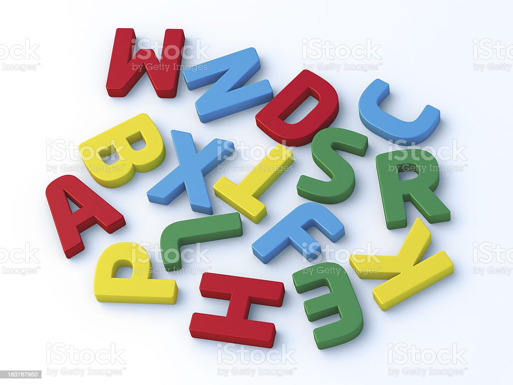 Colorful Letters Randomly Sorted royalty-free stock photo