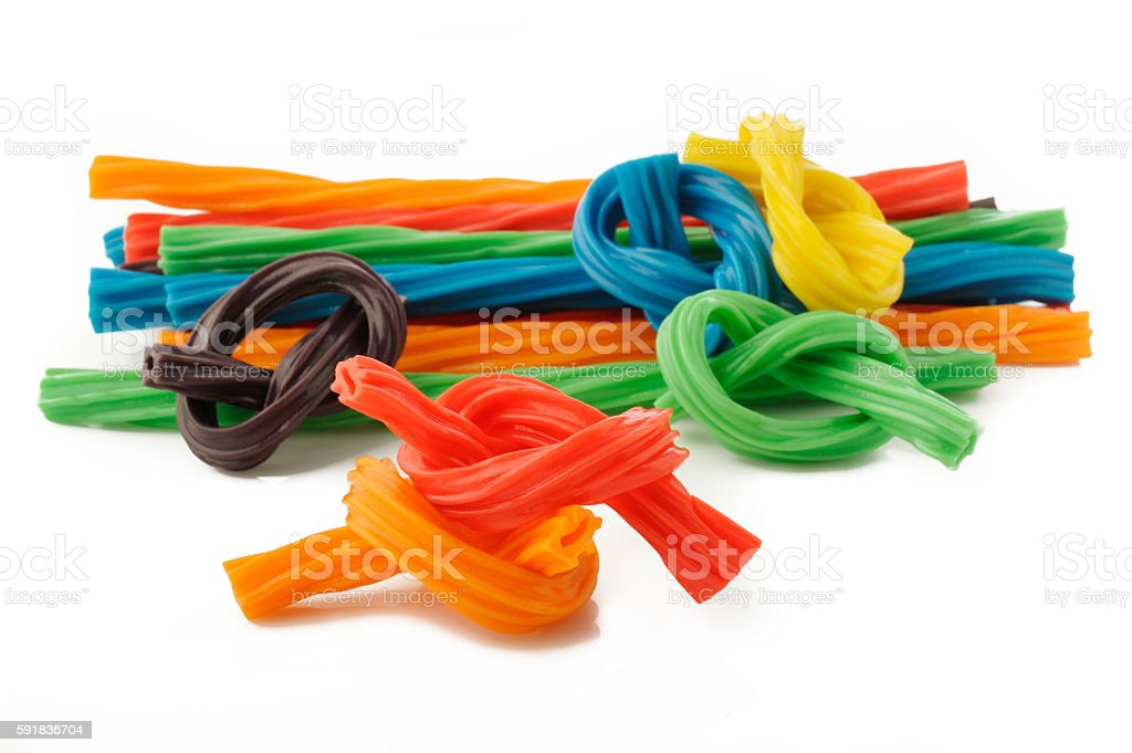 ..colorful licorice candy stock photo