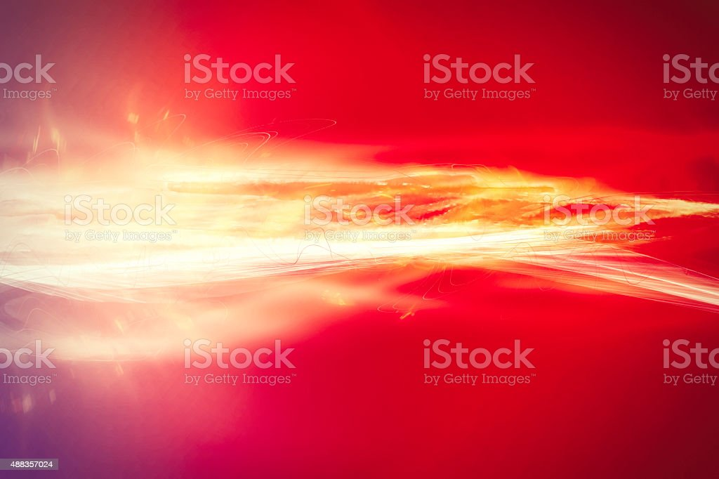 colorful light beams stock photo