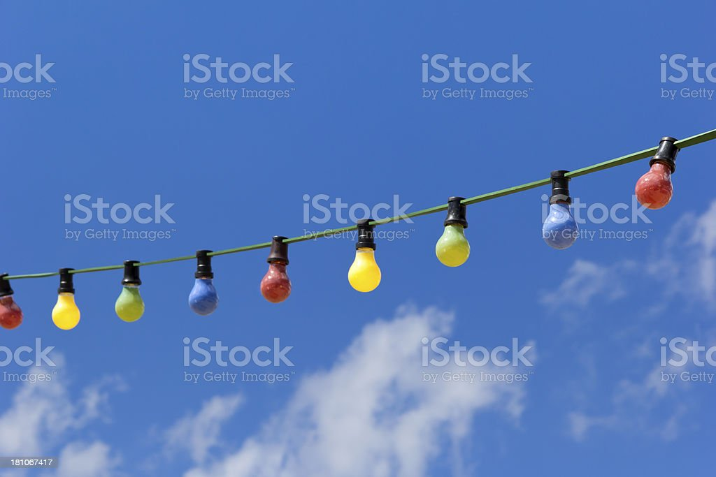 Colorful light bulbs royalty-free stock photo