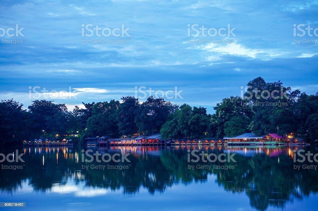 Colorful light in the lake royalty-free stock photo