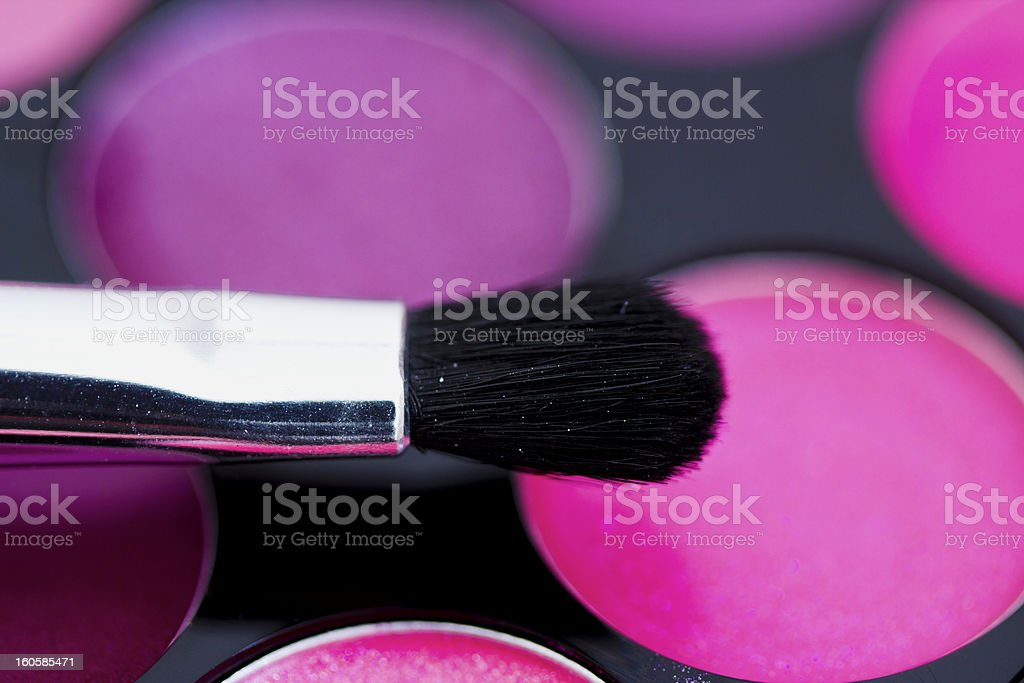 colorful lipgloss palette royalty-free stock photo