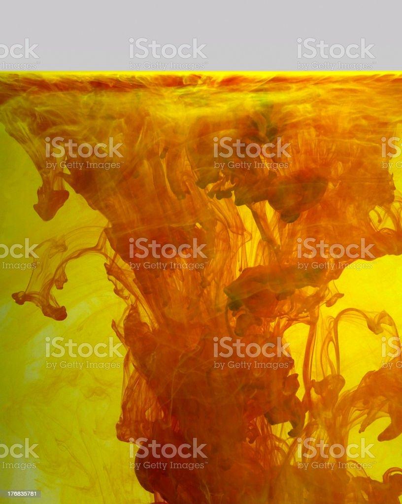 colorful liquid contamination royalty-free stock photo
