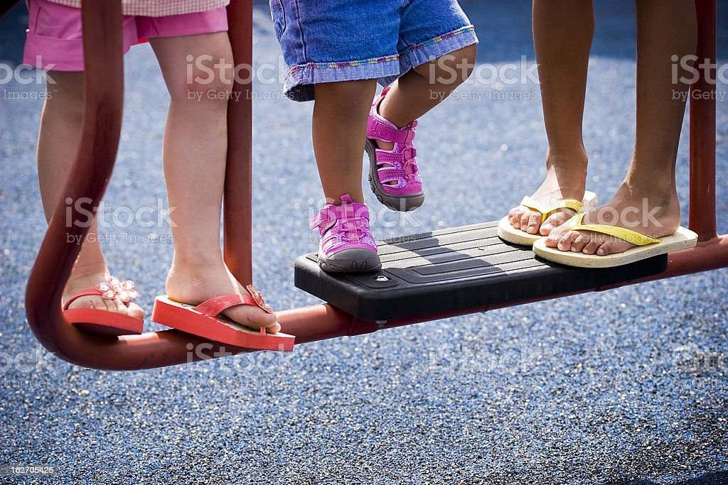 Colorful Little Feet royalty-free stock photo