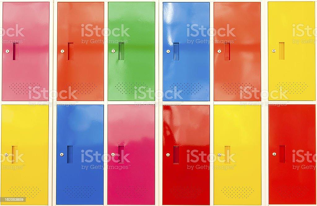 Colorful locker royalty-free stock photo