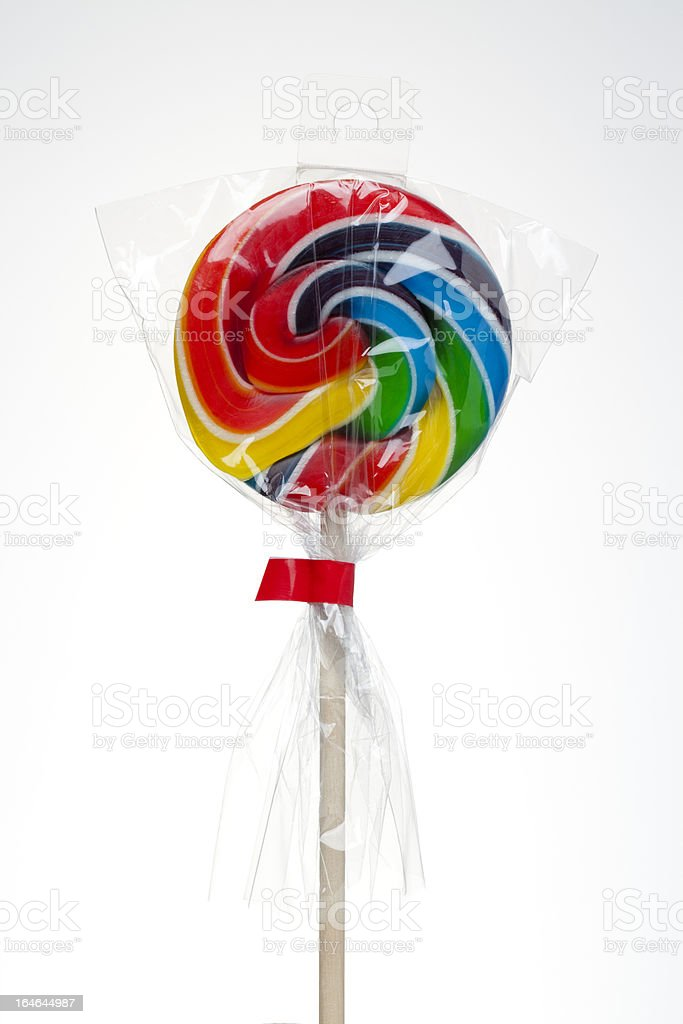 Colorful Lollipop isolated on white stock photo