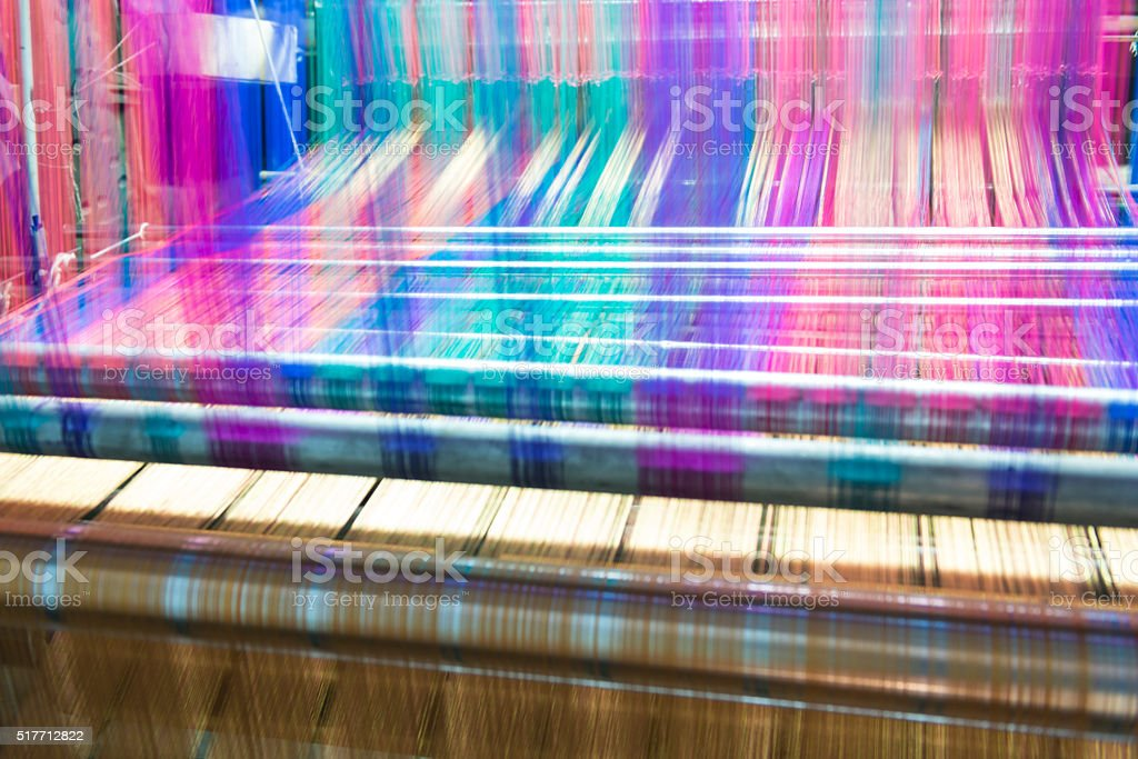 Colorful looms stock photo