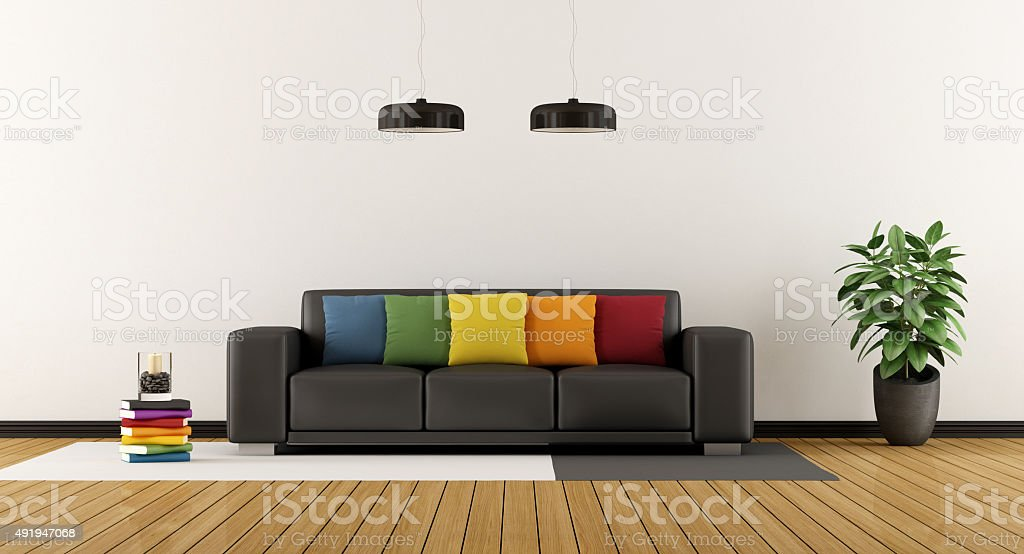 Colorful lounge stock photo