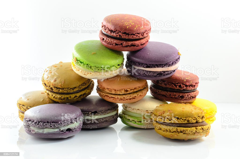 Colorful macarons royalty-free stock photo