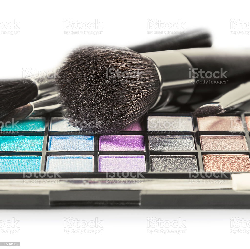 Colorful make-up and cosmetics stock photo