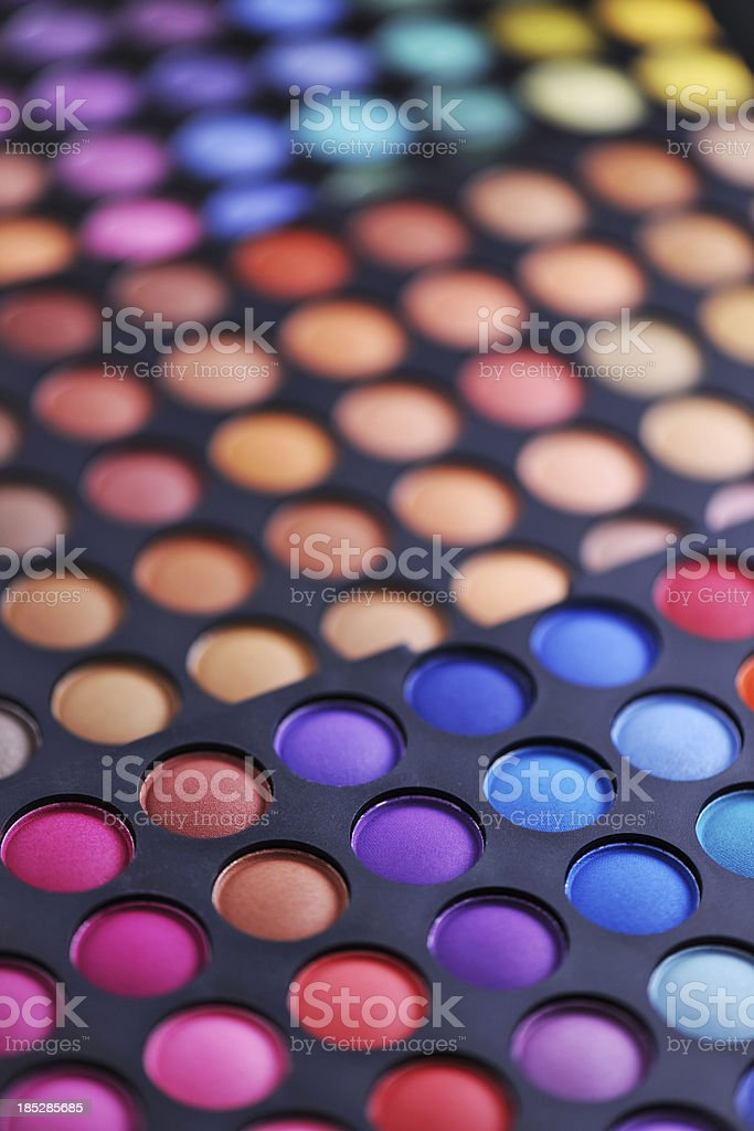 Colorful makeup palette stock photo