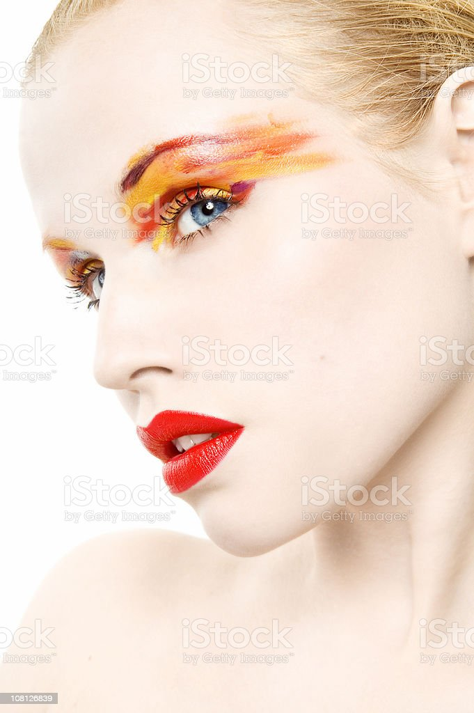 Colorful Make-Up royalty-free stock photo