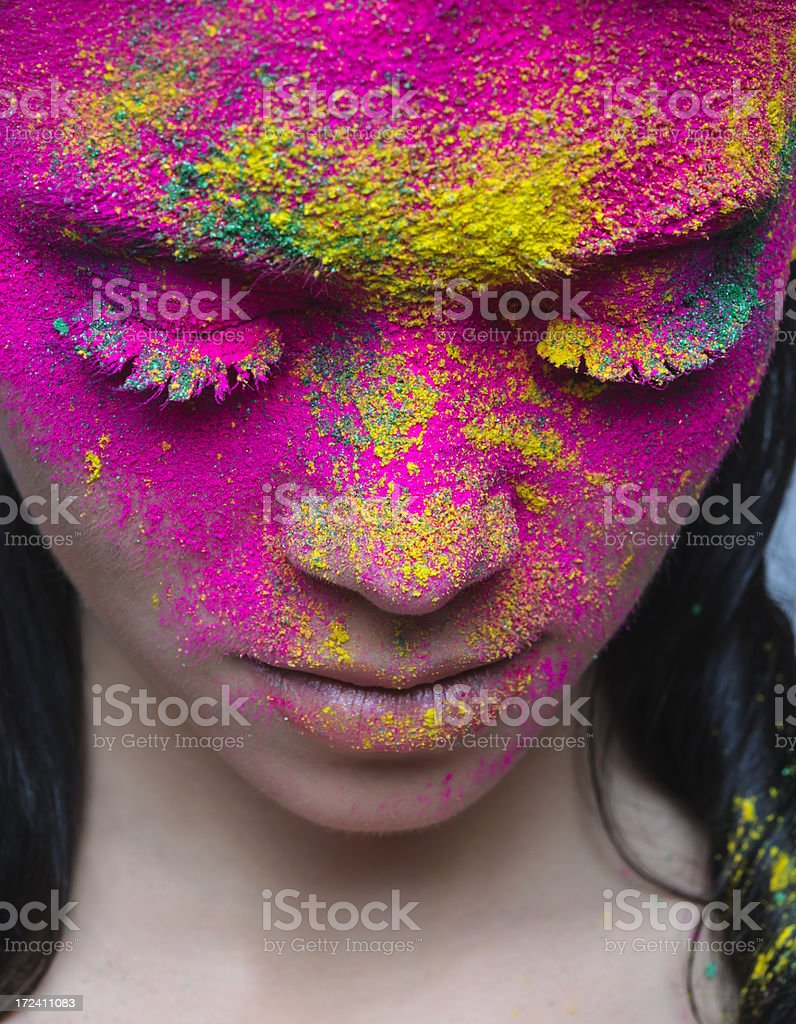 colorful makeup royalty-free stock photo