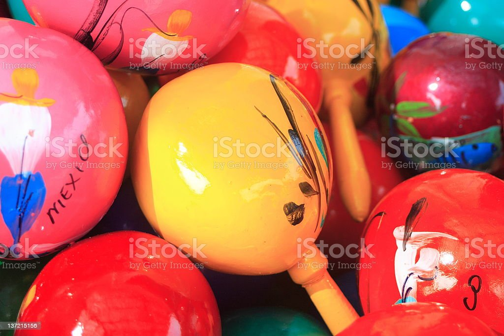 Colorful maracas royalty-free stock photo
