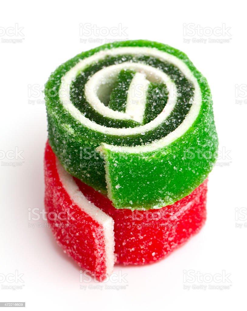 colorful marmelade isolated on white background stock photo