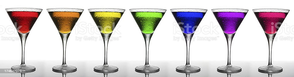Colorful Martini Glass Rainbow, Misted royalty-free stock photo