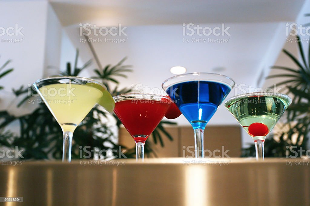 Colorful Martinis royalty-free stock photo