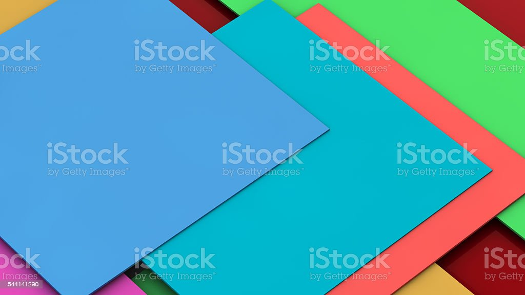 Colorful material design stock photo