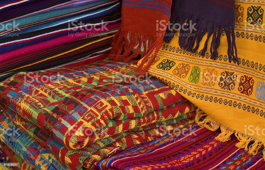 Colorful Mayan Fabrics royalty-free stock photo