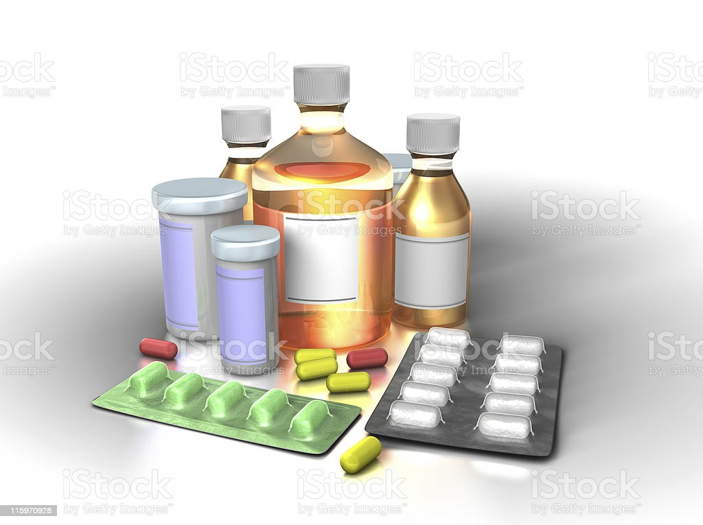 Colorful medicine royalty-free stock photo
