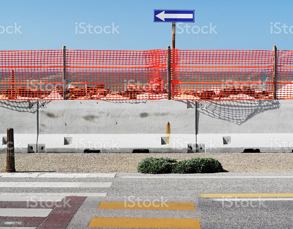 Colorful medley of street signs stock photo