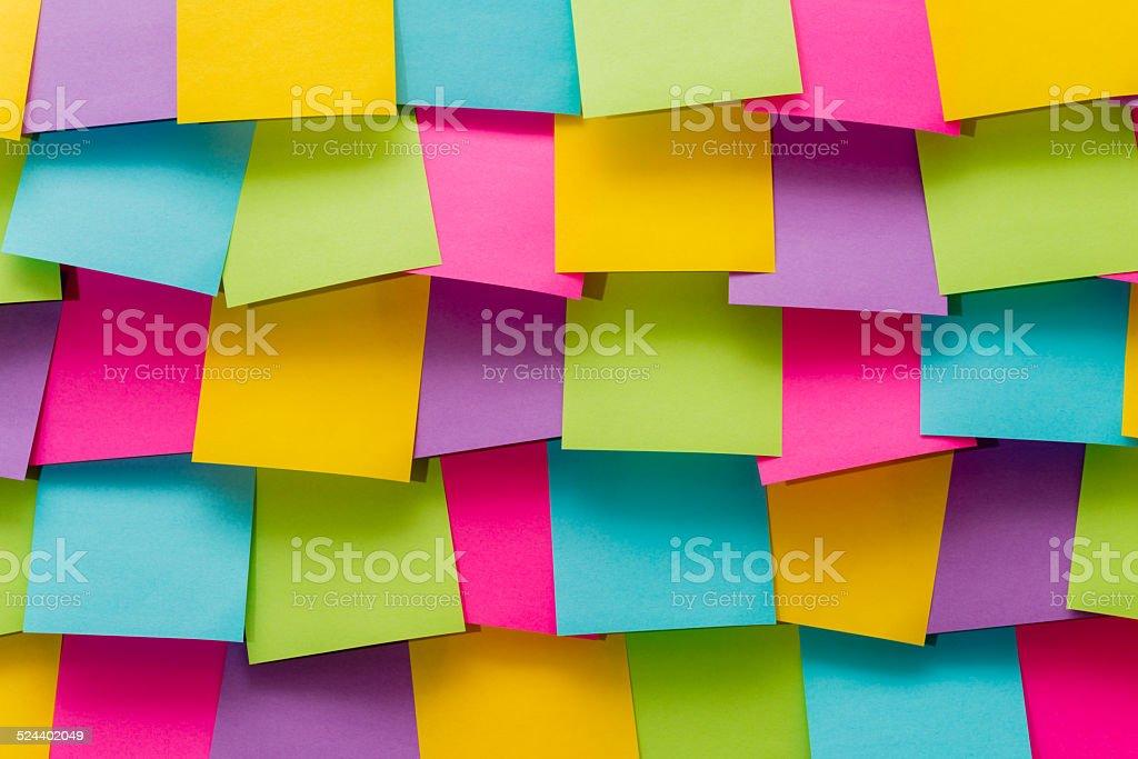 Colorful memo pads (XXXLarge) stock photo