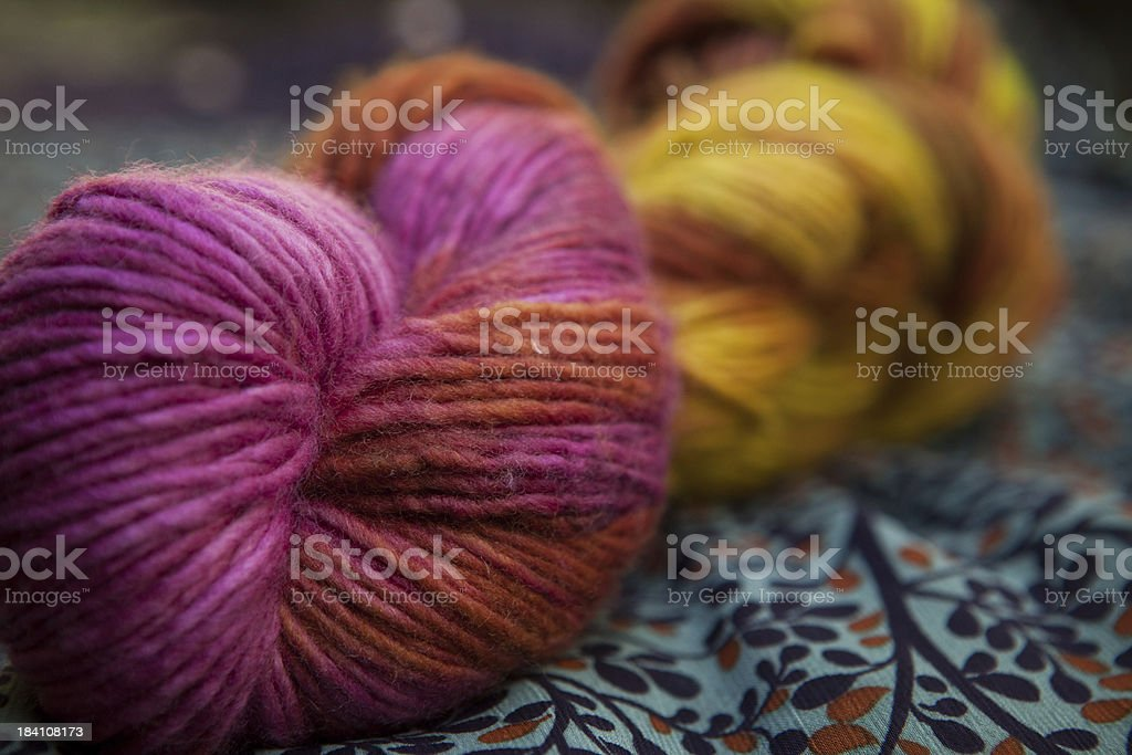 Colorful Merino Wool Yarn stock photo