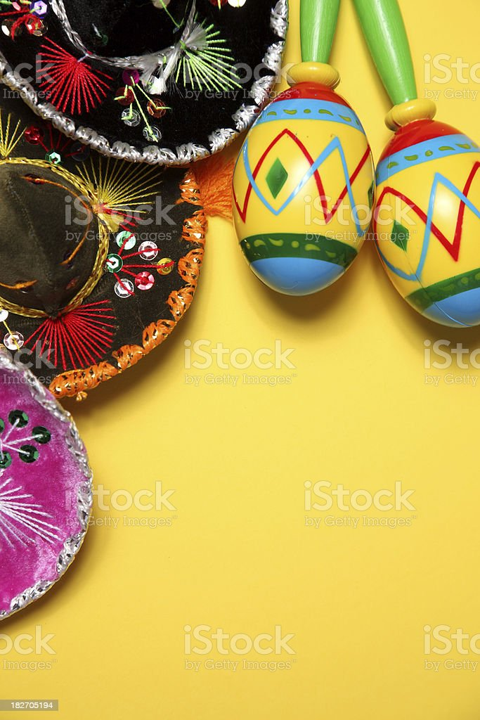 Colorful Mexican blanket border royalty-free stock photo
