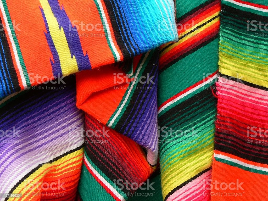 Colorful Mexican Blanket royalty-free stock photo